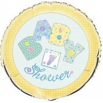 Palloncino Mylar 45 cm. Baby Yellow Stitching Baby Shower