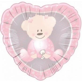 Palloncino Mylar 45 cm. Bimba - Baby Christening Girl Bear