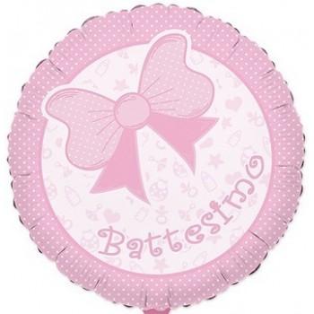 Palloncino Mylar 45 cm. Bimba - Battesimo Baby Rosa