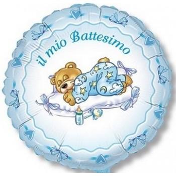 Palloncino Mylar 45 cm. Bimbo - Battesimo Azzurro