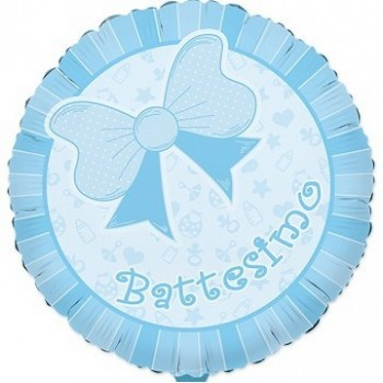 Palloncino Mylar 45 cm. Bimbo - Battesimo Baby Azzurro