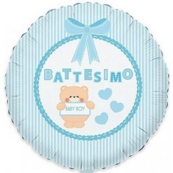 Palloncino Mylar 45 cm. Bimbo - Battesimo Baby Bear Azzurro