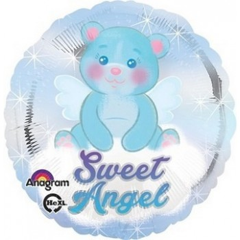 Palloncino Mylar 45 cm. Bimbo - Sweet Angel Boy