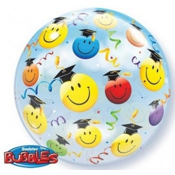 Palloncino Bubble 56 cm. Grad Smile Faces