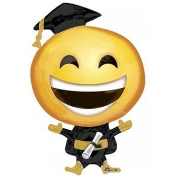 Palloncino Mylar Jumbo 88 cm. Happy Grad Emoticon