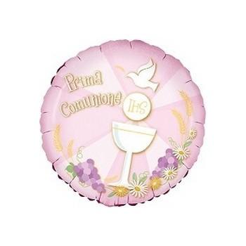 Palloncino Mylar Mini Shape 23 cm. Comunione Rosa