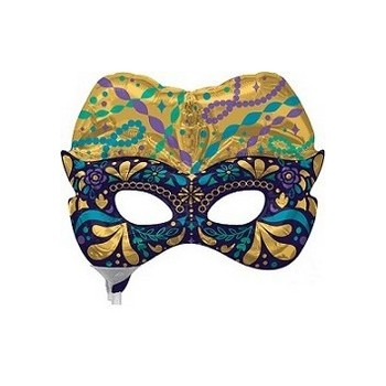 Palloncino Mylar Mini Shape 35 cm. Night In Disguise Mask