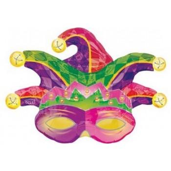 Palloncino Mylar Super Shape 78 cm. Mardi Gras Mask