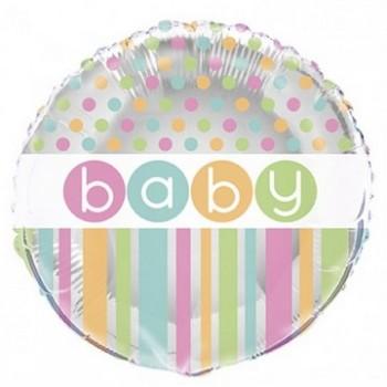 Palloncino Mylar 45 cm. Baby Pastel