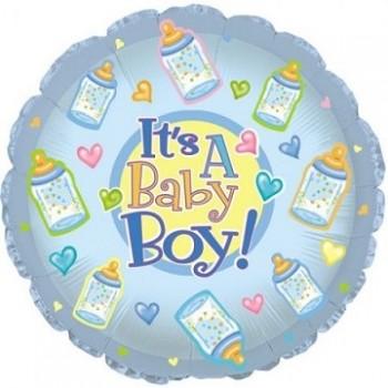Palloncino Mylar 45 cm. Boy - Baby Boy Bottles