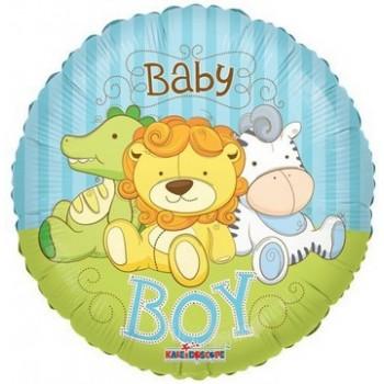 Palloncino Mylar 45 cm. Boy - Baby Boy Jungle Animals