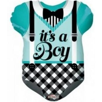 Palloncino Mylar 45 cm. Boy - Blue Baby Clothes Shape