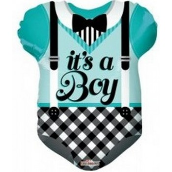 Palloncino Mylar 45 cm. Boy - Blue Baby Clothes Shape