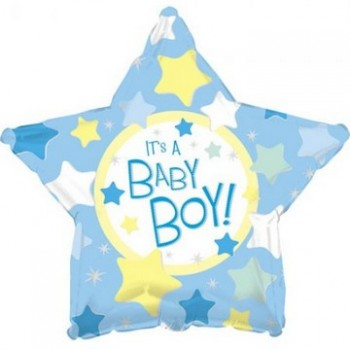 Palloncino Mylar 45 cm. Boy - It's a Boy Star
