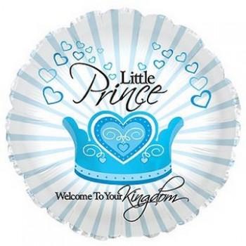 Palloncino Mylar 45 cm. Boy - Welcome Little Prince