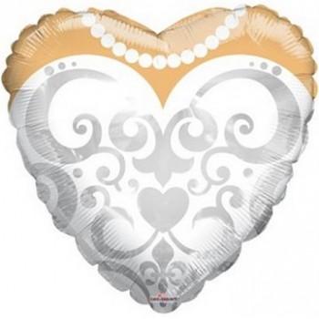Palloncino Mylar 45 cm. Bride's Dress