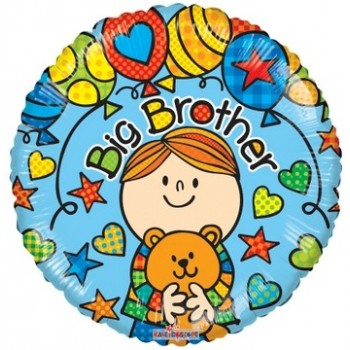 Palloncino Mylar 45 cm. Brother - Big Brother