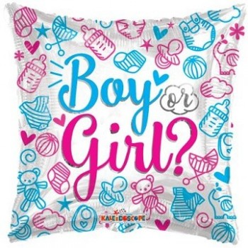 Palloncino Mylar 45 cm. Gender - Boy or Girl?