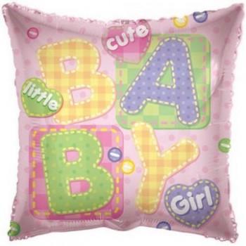 Palloncino Mylar 45 cm. Girl - Baby Girl Big Letters