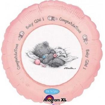 Palloncino Mylar 45 cm. Girl - Baby Girl Congratulations