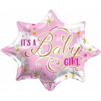 Palloncino Mylar 45 cm. Girl - It's a Baby Girl Shape