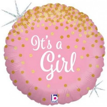 Palloncino Mylar 45 cm. Girl - It's a Girl