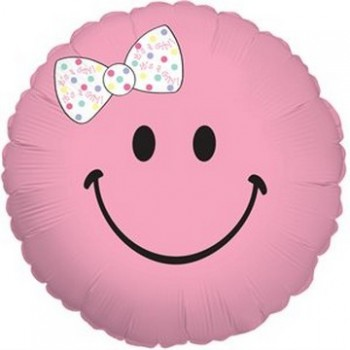 Palloncino Mylar 45 cm. Girl - Smiley Baby Girl