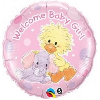 Palloncino Mylar 45 cm. Girl - Witzy & Ellie Funt Baby Girl