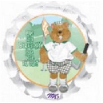 Palloncino Mylar 45 cm. Happy Birthday Golfin Gofer
