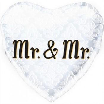 Palloncino Mylar 45 cm. Mr. & Mr. Heart