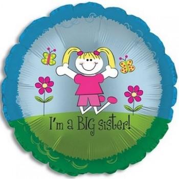 Palloncino Mylar 45 cm. Sister - I'm a Big Sister
