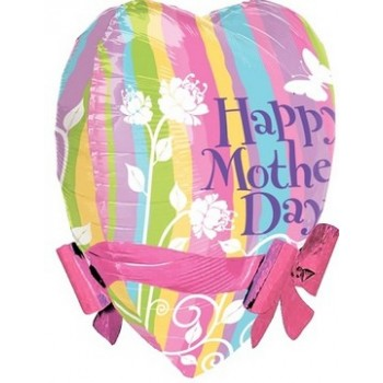 Palloncino Mylar 55 cm. Mother's Day Pastel Ribbons & Bows