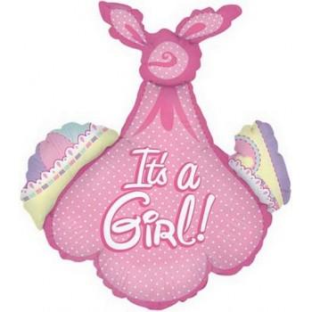 Palloncino Mylar Jumbo 86 cm. Girl - Baby Girl Bundle