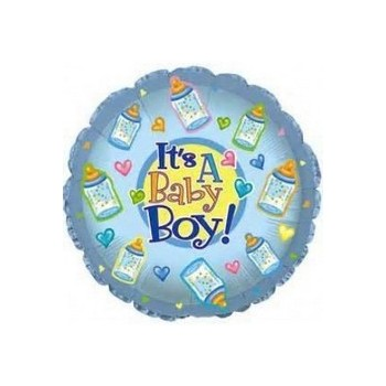 Palloncino Mylar Mini Shape 22 cm. Boy - Baby Boy Bottles