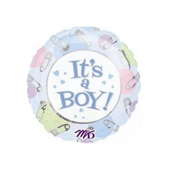 Palloncino Mylar Mini Shape 22 cm. Boy - It's A Boy