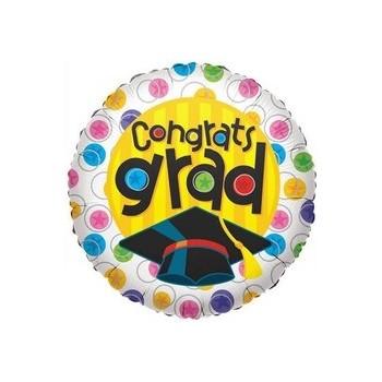 Palloncino Mylar Mini Shape 22 cm. Congrats Grad With Circles