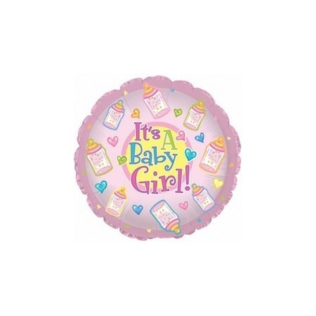 Palloncino Mylar Mini Shape 22 cm. Girl - Baby Girl Bottles