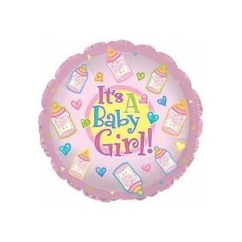 Palloncino Mylar Mini Shape 22 cm. Girl - Baby Girl Bottles
