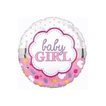 Palloncino Mylar Mini Shape 22 cm. Girl - Baby Girl Scallop