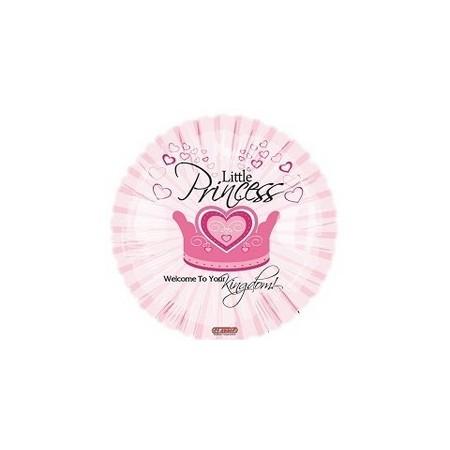Palloncino Mylar Mini Shape 22 cm. Girl - Little Princess Welcome to your Kingdom