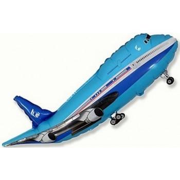 Palloncino Mylar Super Shape 101 cm. Blue Airplane