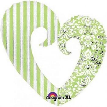 Palloncino Mylar Super Shape 81 cm. Honeydew Open Heart