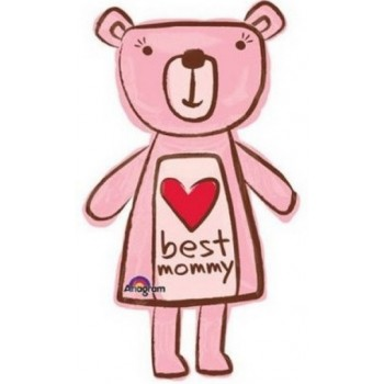 Palloncino Mylar Super Shape 89 cm. Best Mommy Bear