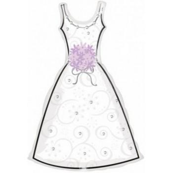 Palloncino Mylar Super Shape 91 cm. Wedding Dress