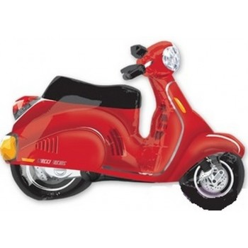 Palloncino Mylar Super Shape 96 cm. Red Scooter