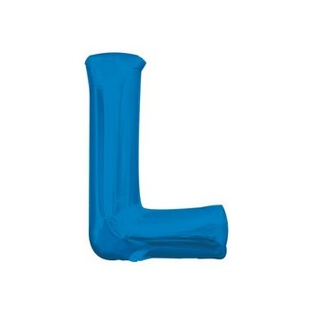 Palloncino Mylar Lettera L Media - 40 cm. Blu Anagram