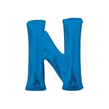 Palloncino Mylar Lettera N Media - 40 cm. Blu Anagram
