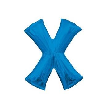 Palloncino Mylar Lettera X Media - 40 cm. Blu Anagram