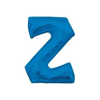 Palloncino Mylar Lettera Z Media - 40 cm. Blu Anagram