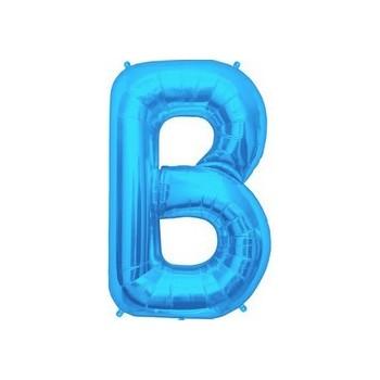Palloncino Mylar Lettera B Media - 41 cm. Blu